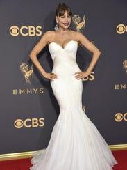 Sofía Vergara arrives at the 69th Primetime Emmy Awards