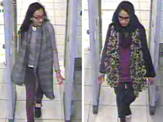 AP BRITAIN SYRIA MISSING GIRLS I GBR