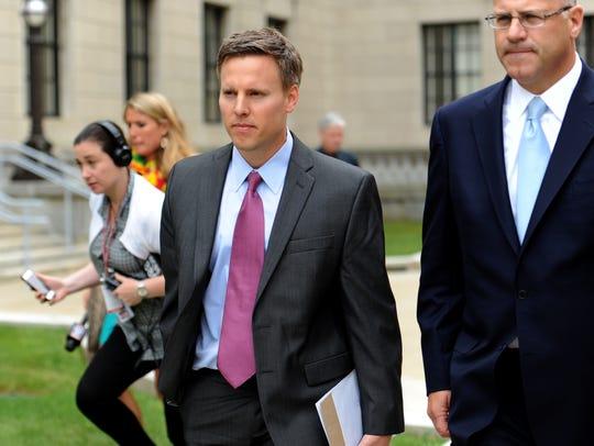 Bill Stepien, left, former campaign manager for Governor
