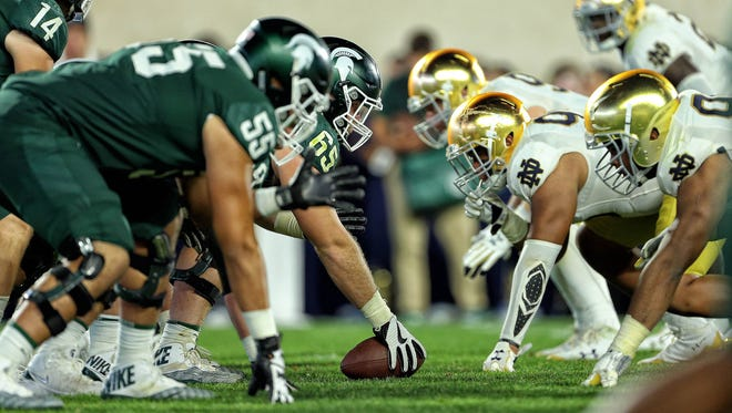 Michigan State's offensive line has struggled with injuries on the offensive line since the Spartans' 38-18 loss to Notre Dame in September.