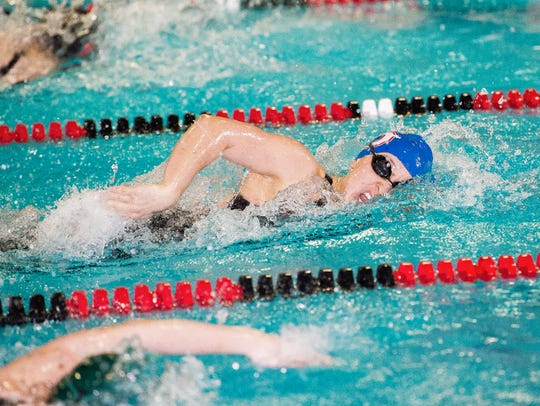 Anna Despain of South Salem competes in the 200 yard