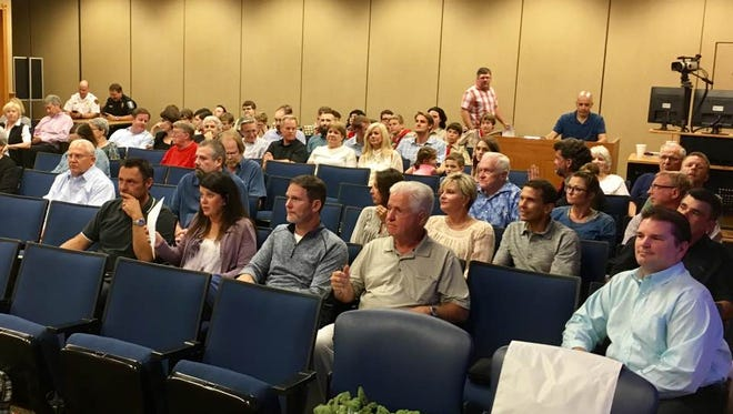 Dozens of Brentwood residents turned out for City Commission's vote on a proposal to accept a 3.13-acre land donation in the Tuscany Hills subdivision, where a future fire station is being planned.