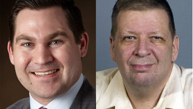 Sheboygan Common Council hopefuls Markus Savaglio, left, and Scott Lewandoske are running in the city's fifth district.