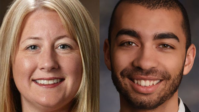 Sheboygan Common Council hopefuls Tanya Taylor, left, and Trey Mitchell are running in the city's ninth district.