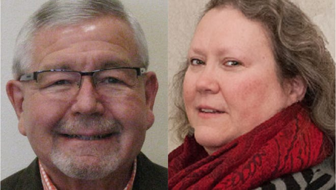 Sheboygan Common Council hopefuls Jim Bohren, left, and Peggy Rothe are running in the city's 10th district.