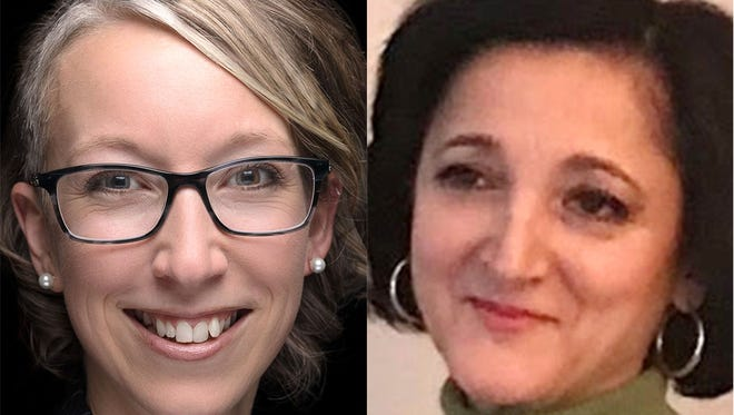 Sheboygan Common Council hopefuls Rose Phillips, left, and Grazia Perrella are running in the city's seventh district.