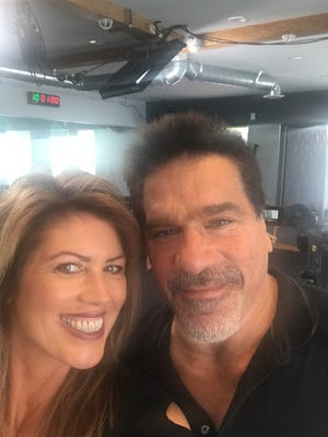 Patty Cummings, of the Cape Coral fitness company, Astro-Durance, and Lou Ferrigno, who portrayed the Incredible Hulk on TV during the late 1970s and early 1980s.