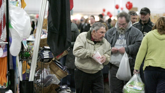 Crowds poured through the aisles of a past Rummage-A-Rama at State Fair Park and will have the chance to again April 21-22.
