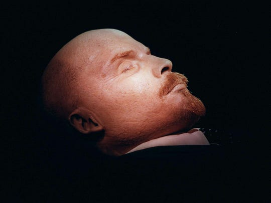 Vladimir Lenin, founder of the Soviet Union shown in