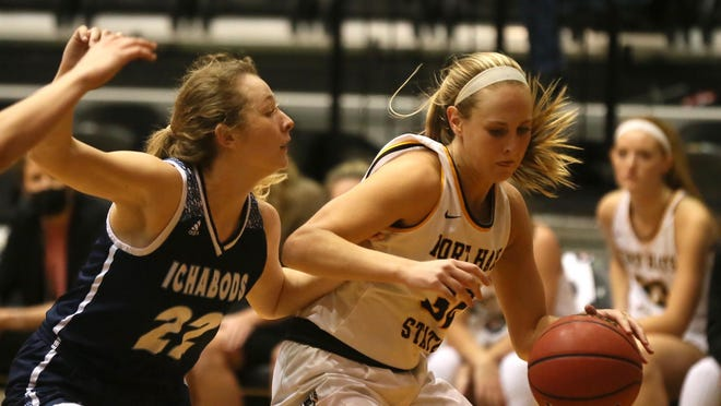 Fort Hays State's Whitney Randall takes a shot during the Tigers' season opener on Tuesday against Washburn in Gross Memorial Coliseum. Randall scored a career-high 26 points in FHSU's 75-69 win.