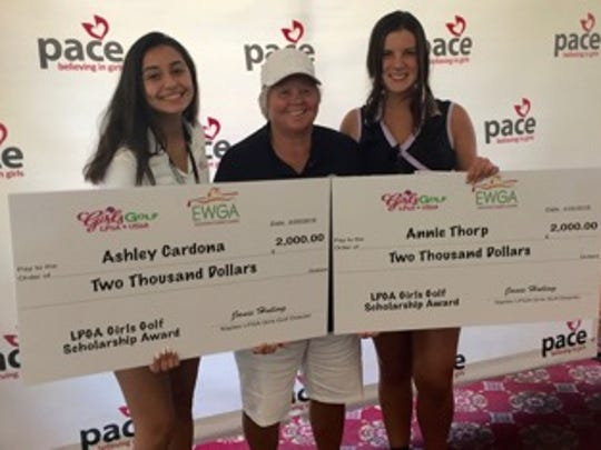 LPGA USA Girls Golf director Janie Huling presented