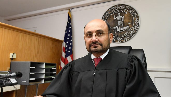 Judge Rupen R. Shah is photographed in the Augusta County General District Court on Monday, June 4, 2018.