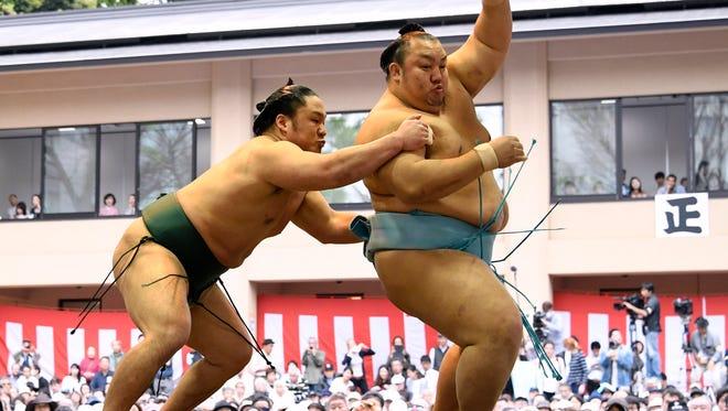 Sumo wrestling in Tokyo, Japan.