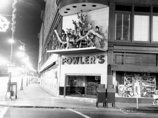 Fowler's Department Store on Court Street at Christmas
