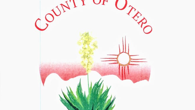 Otero County Commissioners chose their winning logo to represent Otero County at their Thursday, June 8 meeting. The circular design, which depicts a Yucca plant with White Sands National Monument as the backdrop and a red Zia sun symbol in the background, was designed by Kathy Bernardo, 19, a student at New Mexico State University-Alamogordo.