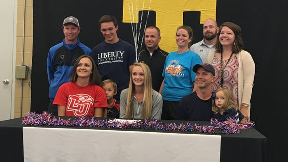 Tuscola distance runner Brooke Turner signed with Liberty last month.
