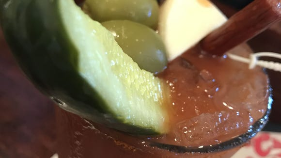 The Bloody Mary at Cheers Seafood & Grill in Rockledge could almost pass for a meal.