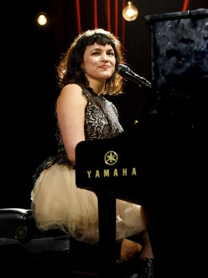 Musician Norah Jones performs onstage at the 25th anniversary MusiCares 2015 Person Of The Year Gala honoring Bob Dylan at the Los Angeles Convention Center on February 6, 2015 in Los Angeles, California. The annual benefit raises critical funds for MusiCares' Emergency Financial Assistance and Addiction Recovery programs. For more information visit musicares.org.  (Photo by Larry Busacca/Getty Images for NARAS)