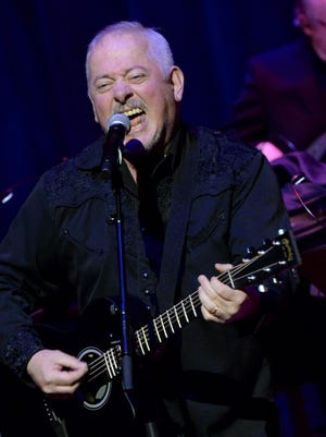 """NASHVILLE, TN - MARCH 28:  Jon Langford  performs during Listen To The Band: The Nashville Cats In Concert With Special Guests For """"Dylan, Cash, And The Nashville Cats"""" Exhibition Opening Weekend at the Country Music Hall of Fame and Museum on March 28, 2015 in Nashville, Tennessee.  (Photo by Rick Diamond/Getty Images for Country Music Hall Of Fame And Museum)"""