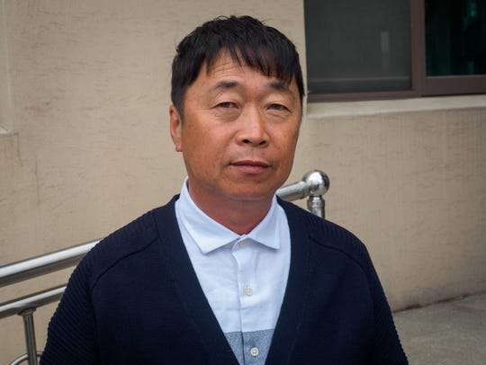 Kim Dong-ku, the mayor of Taesung Village, a town of
