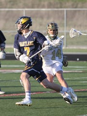 Reece Potter and the Hartland boys' lacrosse team will