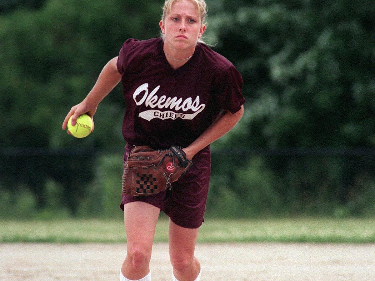 Former Okemos pitcher Jessica Beech-Bograkos, formerly known as Jessica Beech, is one of several athletes inducted into the newly-formed Okemos High School Athletic Hall of Fame.