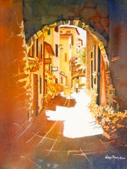 """""""Italian Archway"""" by Joye Moon, part of the Wisconsin Watercolor Society exhibit opening Sept. 17 at the Miller Art Museum."""