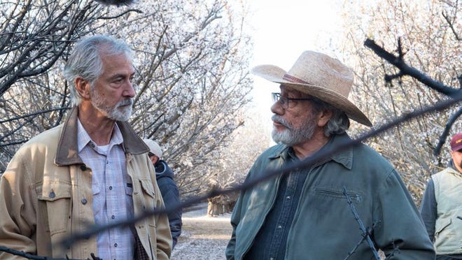 Farmers Fred (David Strathairn) and Santiago (Edward James Olmos) try to fight Big Oil.