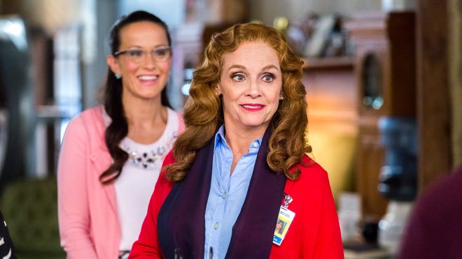 Valerie Harper and Crystal Lowe play a postal detective team.