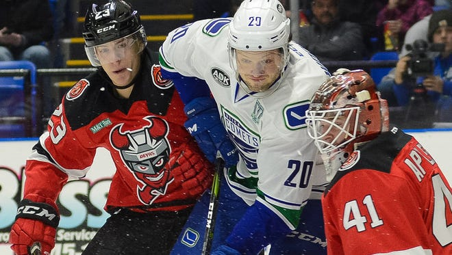 The Binghamton Devils suffered a 2-1 AHL loss at the Utica Comets on Friday night.