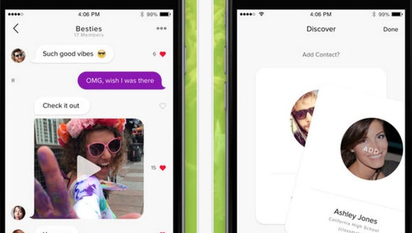 Jott Messenger allows you to sent texts to people on