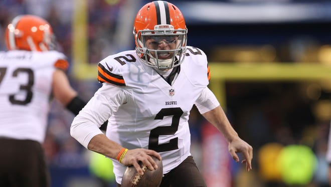 Cleveland Browns quarterback Johnny Manziel will make his first career start against the Cincinnati Bengals on Sunday.
