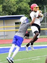 Ace Taylor pulls in a acrobatic catch for Purcell Marian