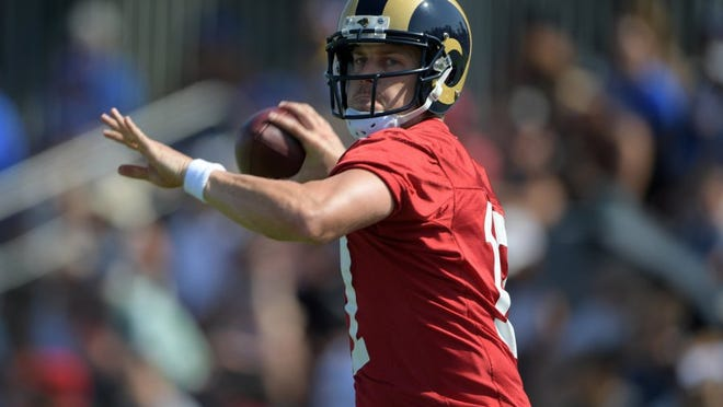 Case Keenum is hoping to lead the Rams into the end zone for the first time this season when Los Angeles plays at Tampa Bay on Sunday.