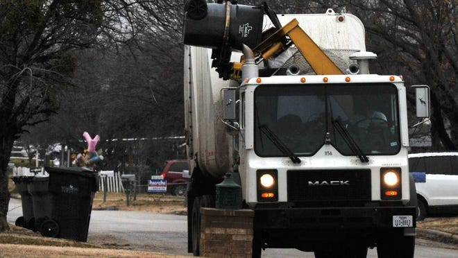 Trash pickup schedules will be modified for Thanksgiving week.