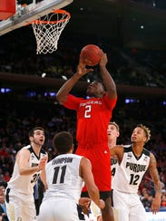 Rutgers Scarlet Knights center Shaquille Doorson (2)