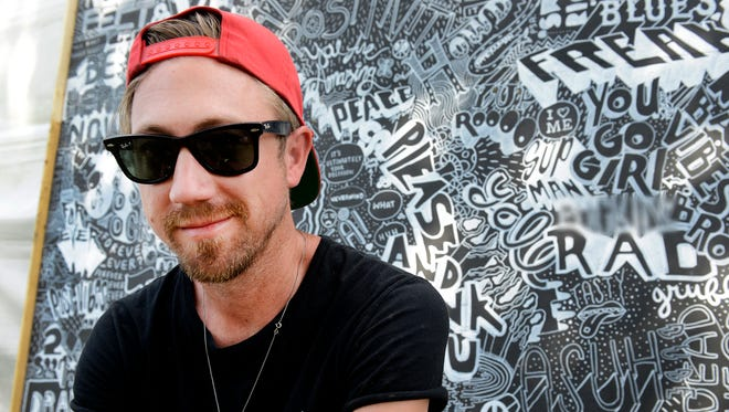 (Editors Note: A seciton of the mural was blurred out due to explicit language) Nashville artist Nathan Brown was commissioned by Bonnaroo Music & Arts Festival to create and build sculptures, murals and other art across the entire VIP section on the grounds of the festival. We take a look at his art. Thursday June 9, 2016, in Manchester, Tenn.