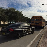 The scene of a school bus crash in Cocoa on Monday, Oct. 5, 2015.