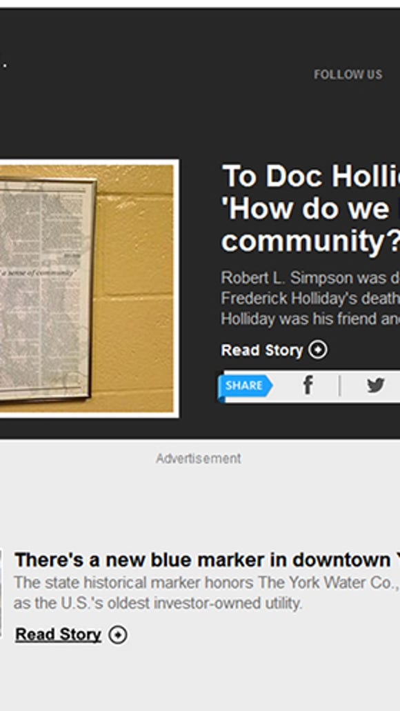 The York County History Newsletter put out weekly by