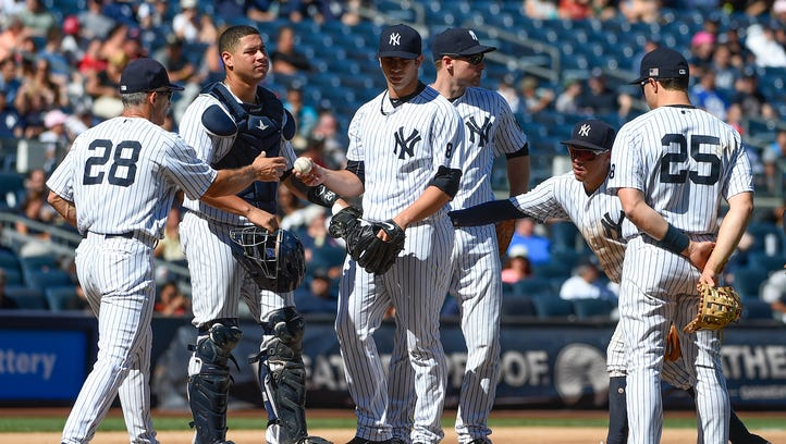Yankees' seven-game winning streak ends in 4-2 loss to Rays