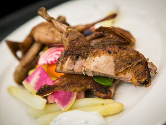 "Lake Forest students made Fennel-Dusted Quail ""Under"