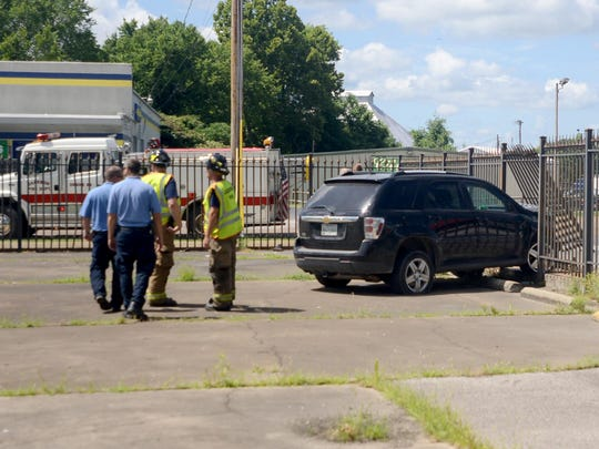 An SUV crashed through the gate at The Jackson Sun