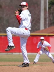 Closing out Canton's 10-6 win in Saturday's opener is pitcher Greg Goodbred.