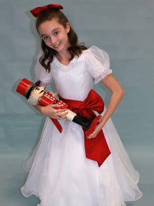 """Shannon Downey stars as Clara  in the  Las Cruces Chamber Ballet's 32nd annual production of E.T.A. Hoffman's beloved """"The Nutcracker,""""  Dec. 18, 19 and 20 at  NMSU's Atkinson Music Center Recital Hall."""
