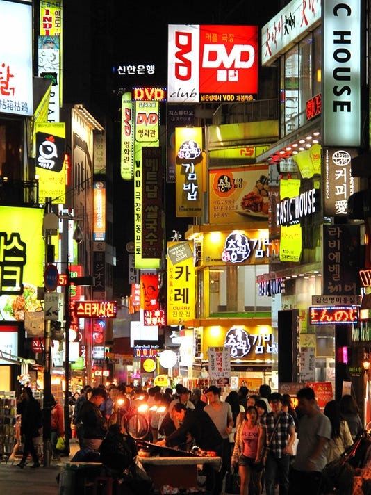 Myeongdong at night