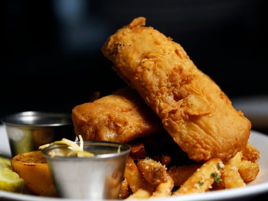 The beer battered fish of the Exchange Pub & Kitchen.