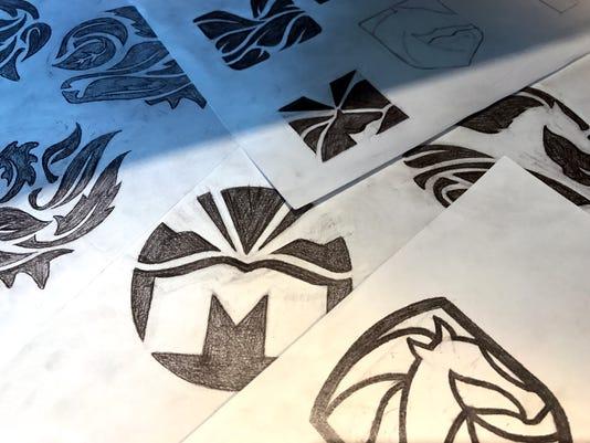 Montville logo sketches