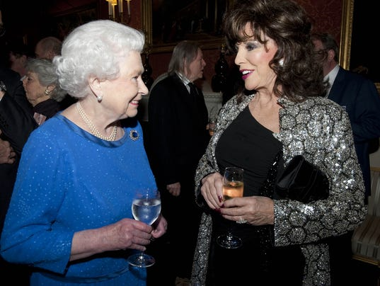 The queen and Joan Collins