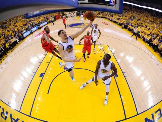 USP NBA: PLAYOFFS-HOUSTON ROCKETS AT GOLDEN STATE S BKN USA CA