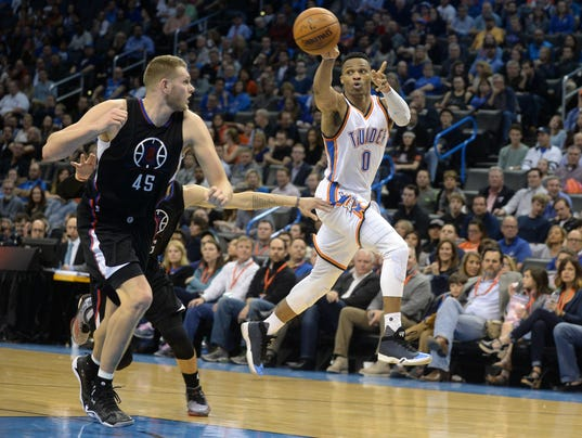 USP NBA: LOS ANGELES CLIPPERS AT OKLAHOMA CITY THU S BKN USA OK